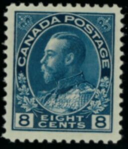 Canada  Stamps #115 mh blue 8 cent VFXF