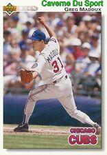 353 greg maddux chicago cubs baseball card upper deck 1992