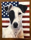 Jack Russell Terrier Garden Flag (American Flag 3)
