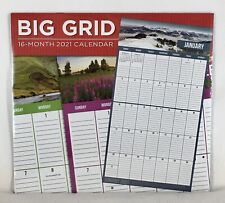 2021 BIG Grid Moms Family Schedule Manager Organizer Planner Wall Calendar