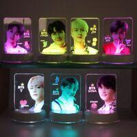 Kpop BTS Member 7 Colors LED Night Light JIMIN V Acrylic Table Desk Lamp Army