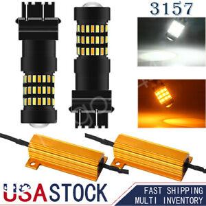 3157 LED Turn Signal Light Bulbs for Ram 1500 1994-2012 Super Bright w/Resistors