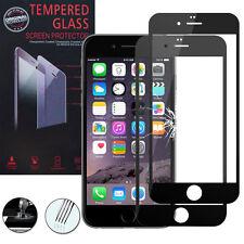 2 Films Verre Trempe Protecteur Protection NOIR pour Apple iPhone 6/ iPhone 6S