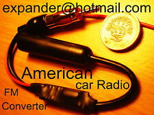 US American Car Radio FM Converter to UK Band expander +0.1 MHz frequency shift