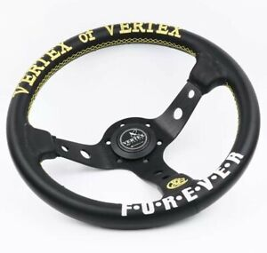330mm Dish Steering Wheel Forever Inspired - Fit 6 hole Hub Vertex Nardi NRG