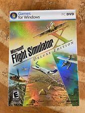 NIB SEALED - MICROSOFT FLIGHT SIMULATOR X DELUXE EDITION PC DVD - RARE