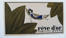 """ANCIENNE CARTE PARFUMEE """"REVE D'OR"""" DE LA PARFUMERIE PIVER / 2"""