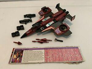 VINTAGE 1985 Hasbro G1 TRANSFORMERS Seeker Jets THRUST 100% Complete Figure