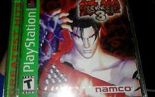MINT Tekken 3 PlayStation 1 1998 Brand New ~ Factory Sealed. FREE SHIPPING