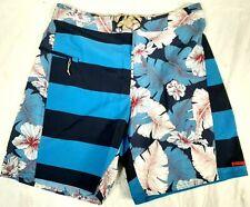 #268 NEW PATAGONIA WAVEFARER Board Shorts Mens 32 1 Pocket Striped Floral