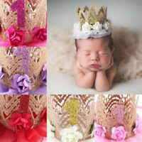 Baby's Hat Rose Flower Headdress Baby Shower Party Hairband Photo Prop Headbands