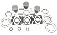 1996 Polaris Ultra 680 RMK SKS (3) SPI Pistons Top End Gasket Kit Std 66.60mm