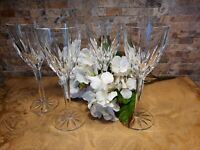 "Apollo By Mikasa Set of 2 Wine Goblets cut Crystal Germany 7 5/8"" Goblets"