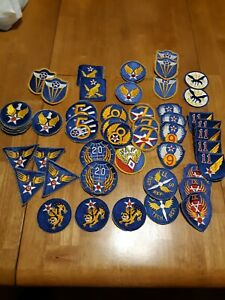 54 ARMY AIR CORPS PATCHES, MANY DIFFERENT ONES