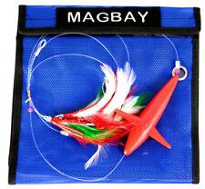 Tuna Feather Daisy Chain with Bird - Red & Green Tuna & Mahi Lure Plus Bag