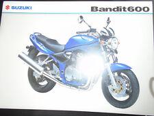 Suzuki Bandit motorcycle brochure Mar 2004 UK market