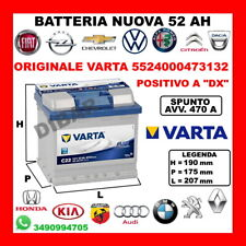 BATTERIA 52AH VARTA NUOVA AUTOBIANCHI A 112 1.0 ABARTH DA 71 KW43 CV58 A112A1000