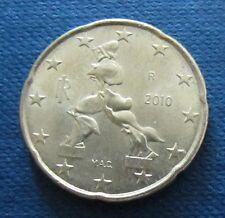 20 céntimos euros moneda italia año de emisión 2010, de circulación, artículo de colección!