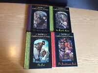 A Series Of Unfortunate Events Books By Lemony Snicket Bundle  2,3,12 & 13