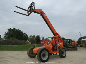 2014 JLG 6042 6,000 lbs Telescopic Reach Forklift 6K Telehandler bidadoo