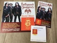 Pack Promo HOLLYWOOD VAMPIRES Johnny DEPP Alice COOPER PERRY VERY RARE ITEM !!!