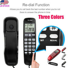 Corded Telephone Caller ID Home Office Desk Wall Mount Landline Handset Phone