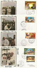 Africa-10 Covers of Pope's Visit (1980)- various countries