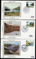 1981 National Trust Set Of 5 Benham Small Silk First Day Covers See 2 Scans
