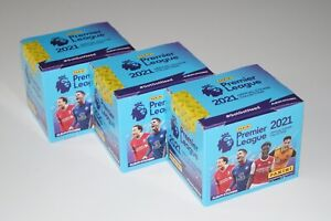 PANINI Premier League 2020/21 - 3 OVP Display 50 Tüten 750 Sticker Neu/OVP