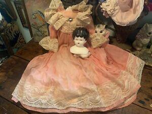 "Vintage MARK FARMER 16"" Porcelain Doll AS IS"