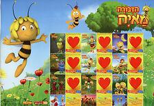 Israel 2015 MNH Maya the Bee My Own Stamp 9v M/S Love Hearts Cartoons