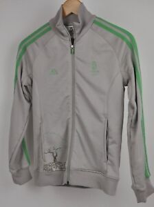 Women's ADIDAS 2008 Beijing China OLYMPICS Track Jacket Taupe/Lime Tree Size M