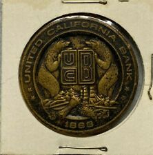 United California Bank Collectible Vintage Token Coin Oakdale Office Bronze Tone