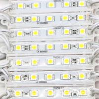 100pcs SMD 5050 3/5 Leds LED Module Light Waterproof IP65 DC 12V Cabinet Lamp