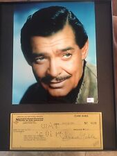 CLARK GABLE SIGNED CHECK /COMES WITH PHOTO 2COA'S UACC REGISTERED DEALER RARE