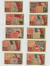 Peru Roldan- Flags and Stamps x 10 Cards (Lot 1)