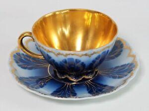 Rosenthal Malmaison Jugendstil Sammelgedeck Gold Kobaltblau Antik 1896-1906