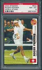 2003 Stadion #620 ROGER FEDERER ROOKIE PSA 8 pop. 4, 2 higher GOAT [BBE]