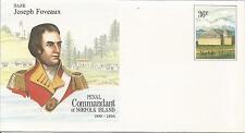 Norfolk Island  Penal Commandment  Major Joseph Foveaux  Pre-stamped 36c. Cover