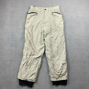 SMP Adults Snow Pants Large Beige Onex 100% Nylon Shell Lining 100% Polyester L