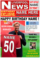 NEW Personalised Liverpool Fan Birthday Card! DAD BROTHER SON GRANDAD UNCLE ETC.