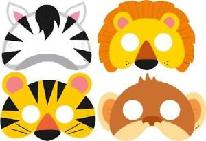 Animal Jungle Masks - Pack of 8