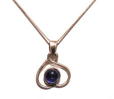 """AMETHYST CABOCHON & 925 STERLING SILVER PENDANT ON 18"""" STS CHAIN BNWOT"""