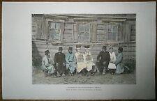1880 Reclus print MARI (CHEREMIS) PEOPLE, SIMBIRSK GUBERNIA, RUSSIA (#62)
