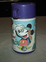 WALT DISNEY  MICKEY MOUSE THE MAIL PILOT PURPLE  ALADDIN THERMOS