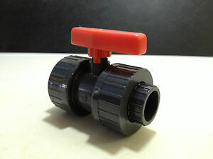 40mm BALL VALVE SOLVENT WELD PVC U DOUBLE UNION MARINE SUMP REEF FISH CORAL SAFE