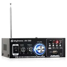 Mini Amplificatore Stereo Usb Sd Mp3 Aux Radio Fm Corrente 12 V 80 W Hi Fi Hifi