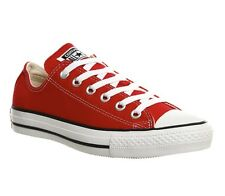Converse Unisex Chuck Taylor All Star Ox Low Top Sneakers Red Mens 6 Women's  8