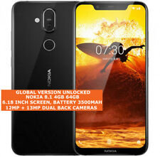Nokia 8.1 Global Version 4gb/64gb Dual Sim Cards 12mp Fingerprint Id Android Nfc