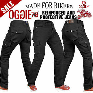 Men's Motorbike Motorcycle jeans Reinforced denim with Protective Lining Trouser